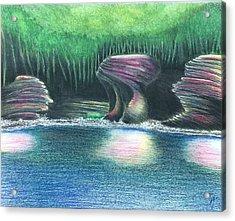 Eroding Away Acrylic Print by Sotiri Catemis
