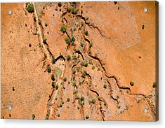 Erosion From Agricultural Use Acrylic Print by Michael Fay