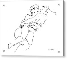 Erotic Art Drawings 13 Acrylic Print by Gordon Punt