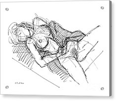 Acrylic Print featuring the drawing Erotic Art Drawings 7 by Gordon Punt