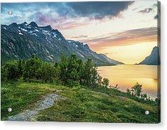 Ersfjord Sunset Acrylic Print
