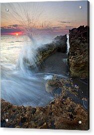 Eruption At Dawn Acrylic Print by Mike  Dawson