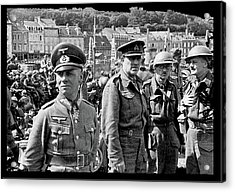 Erwin Rommel And Captured British Soldiers Tobruck Libya 1942 Color Added 2016  Acrylic Print
