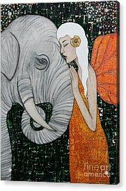 Erynn Rose Acrylic Print by Natalie Briney