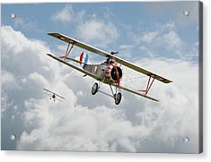 Acrylic Print featuring the photograph Escadrille Lafayette - Hunters by Pat Speirs