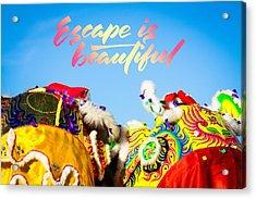 Acrylic Print featuring the photograph Escape by Bobby Villapando