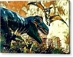 Escape From Jurassic Park Acrylic Print by Pennie  McCracken