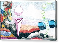 Acrylic Print featuring the drawing Escape From The Prison Of Negativity by Rod Ismay