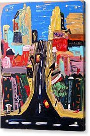 Acrylic Print featuring the painting Escape To The City by Mary Carol Williams