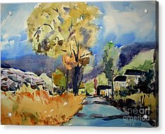 Escapeto The Country Matted Glassed Framed Acrylic Print by Charlie Spear