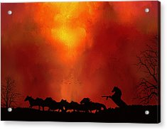 Acrylic Print featuring the photograph Escaping The Inferno by Diane Schuster
