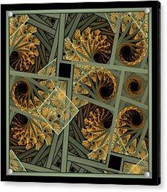 Escher Grey-fern Acrylic Print