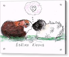 Acrylic Print featuring the drawing Eskimo Kisses by Denise Fulmer