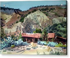 Espanola On The Rio Grande Acrylic Print by Donald Maier