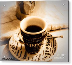 Espresso Anyone Acrylic Print by MaryLee Parker