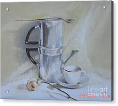 Espresso For One          Copyrighted Acrylic Print by Kathleen Hoekstra