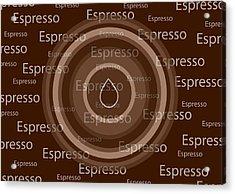Espresso Acrylic Print by Frank Tschakert