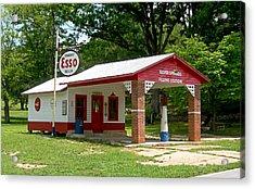 Esso Station Acrylic Print by Greg Joens