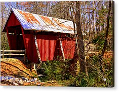 Est. 1909 Campbell's Covered Bridge Acrylic Print