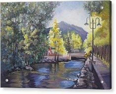 Estes Park Riverside Acrylic Print by Carole Haslock