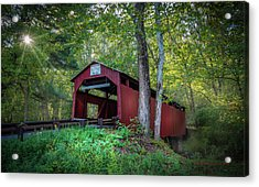 Acrylic Print featuring the photograph Esther Furnace Bridge by Marvin Spates