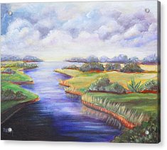 Estuary Acrylic Print by Patricia Piffath