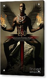 Esu Acrylic Print by James C Lewis