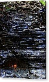 Eternal Flame Falls Acrylic Print by Darleen Stry