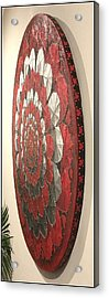 Acrylic Print featuring the painting Eternal Hearts  by James Lanigan Thompson MFA