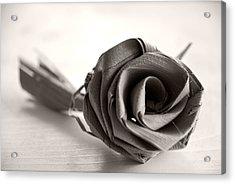 Eternal Rose In Sepia Acrylic Print