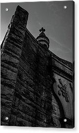 Eternal Stone Structure Bw Acrylic Print