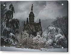 Acrylic Print featuring the digital art Eternal Winter by Chris Lord