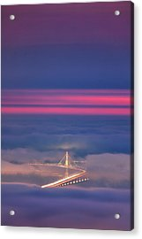 Ethereal Bridge, Oakland Bay Bridge Acrylic Print by Vincent James
