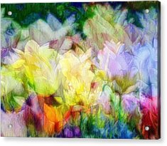 Ethereal Flowers Acrylic Print