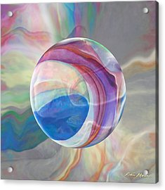 Acrylic Print featuring the painting Ethereal World by Robin Moline