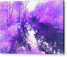 Ethereal Water Color Blossom Acrylic Print