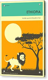 Ethiopia Travel Poster Acrylic Print by Jazzberry Blue