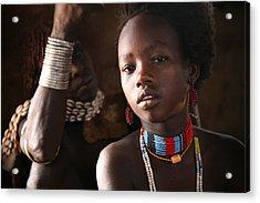 Ethiopian Hamer Girl Acrylic Print