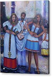 Ethiopian Ladies Shoulder Dancing Acrylic Print