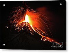 Acrylic Print featuring the pyrography Etna by Bruno Spagnolo