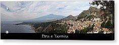 Etna E Taormina Acrylic Print