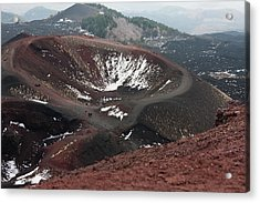 Etna, Red Mount Crater Acrylic Print