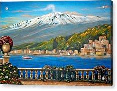 Etna Sicily Acrylic Print