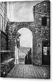 Etruscan Arch B/w Acrylic Print