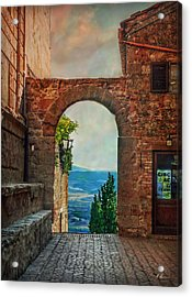 Acrylic Print featuring the photograph Etruscan Arch by Hanny Heim