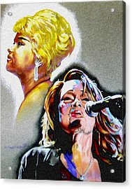 Etta James Acrylic Print by Christopher Martinez