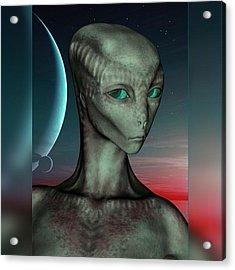 Alien Girl Acrylic Print