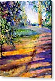 Eucalyptus At Sunset Acrylic Print by Kathy Dueker