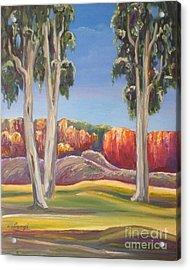 Eucalyptus Acrylic Print by Ushangi Kumelashvili