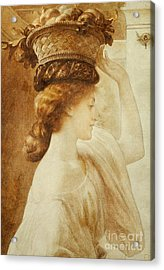 Eucharis  A Girl With A Basket Of Fruit Acrylic Print by Frederic Leighton